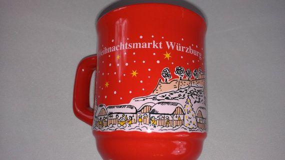 Weihnachtsmarkt #Wurzburg #Germany Mug Cup Coffee Tea http://etsy.me/1FzGGzg #etsy #etsyfind #collectible #german