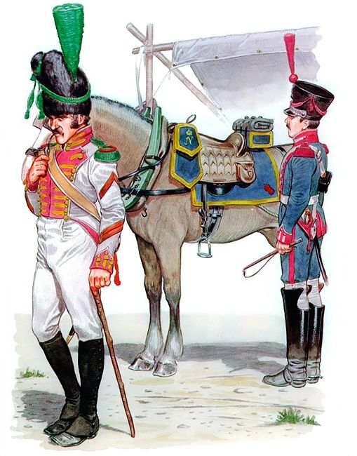 """""""• Corporal, 2nd Velites of the Neapolitan Guard, 1812-13 • Driver, Artillery Train of the Neapolitan Guard, 1812-15"""", Mike Chappell"""