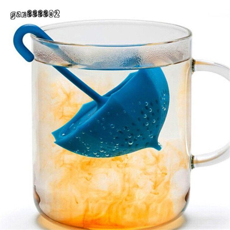 Hot Sale Creative Mr Cute Umbrella Shape Silicone Tea Infuser Coffee Strainers Filter Infusers Tea bag