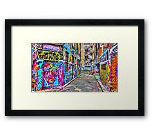 Hanging Out in the Colourful Rutledge Lane Framed Print