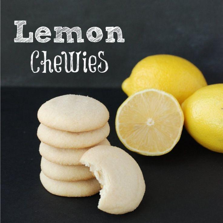 An easy recipe for Lemon Chewies -- a great light, lemony, slightly sweet vegan cookie.