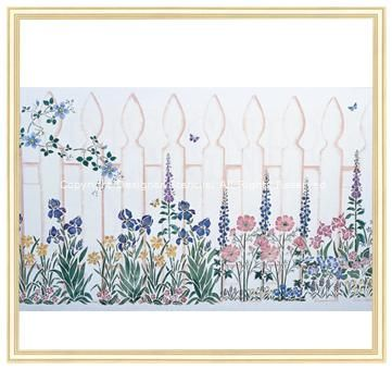 The Perfect Sized Picket Fence Wall Stencil To Run Around A Room For A  Spectacular Garden Mural.