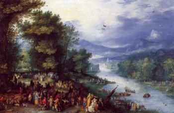 Landscape with the Young Tobie - Jan Bruegel the Elder - The Athenaeum