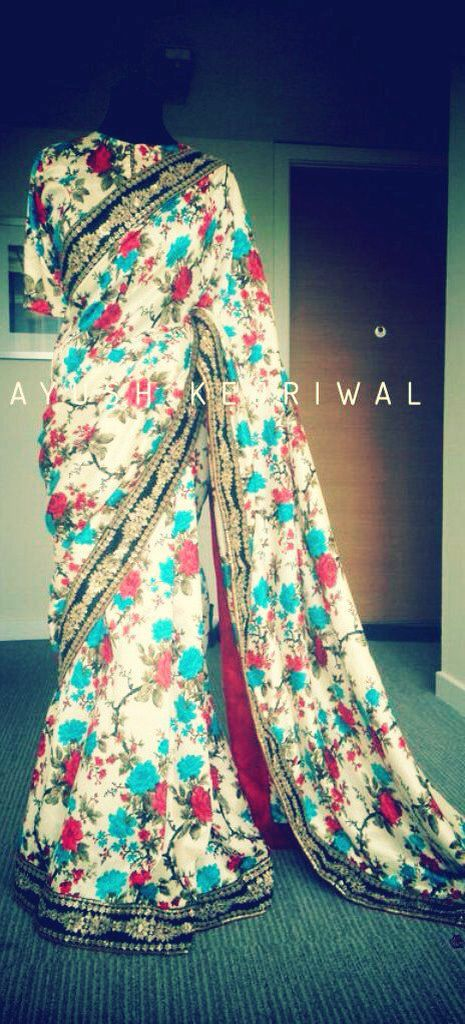 Saree by Ayush Kejriwal For purchase enquires email me at ayushk@hotmail.co.uk or whats app me on 00447840384707. We ship WORLDWIDE. #sarees,#saris,#indianclothes,#womenwear, #anarkalis, #lengha, #ethnicwear, #fashion, #ayushkejriwal,#bollywood, #vogue, #indiandesigners, #indianvogue, #asianbride ,#couture, #fashion