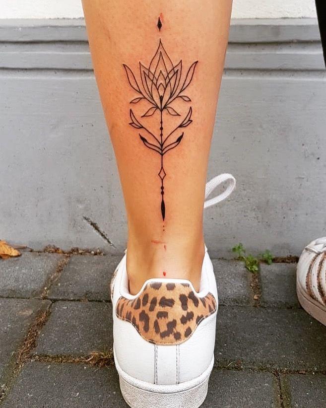 Symmetry Ink Lower Leg Tattoo Lower Leg Tattoos Girl Leg Tattoos Leg Tattoos Women