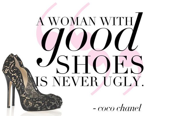 What do your shoes say about your personality? #shoes #cocochanel #quote