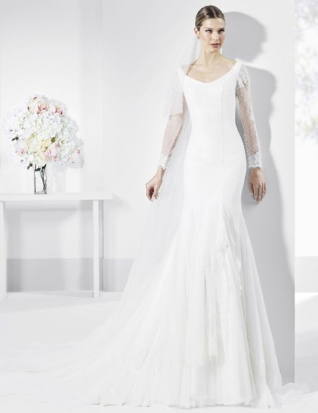 20 vestidos de novia con plumeti 2017 a los que no te podrás resistir. ¡Toma nota! Image: 7
