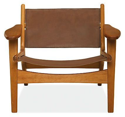 Sculptural, with a modern mix of materials for a masculine, yet warm appearance, the Lars lounge chair will become the focal point of your room. Handcrafted in Vermont, the frame is built from solid wood with broad armrests and a low sit for comfortable lounging. With leather sourced from a Minnesota tannery, the seat and back are constructed by a Minnesota company known for their expertise in crafting quality leather goods. The soft curves and expert craftsmanship ensure this chair will…