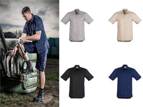 Syzmik-Light-Weight-Tradie-Shirt-Short-Sleeve-ZW120-Mens-S-5XL-7XL-Trade-Work