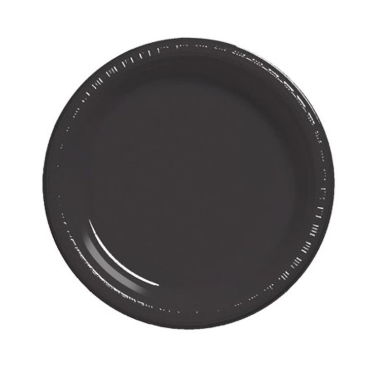 Club Pack of 240 Jet Black Premium Disposable Plastic Party Banquet DInner Plates 10