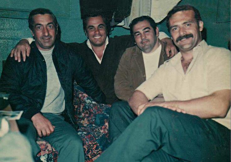 Rare photo of sonny black napolitano and john gotti in greenhaven prison