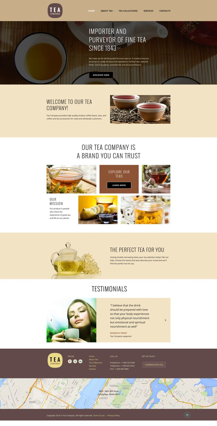 Tea Website Template