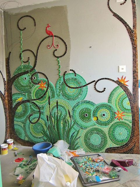 Mosaic Bathroom - great for a children's bathroom, they could help to design and make it too!