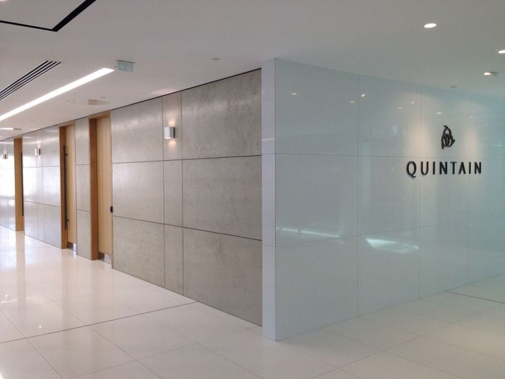 Quintain Project Wall Panels To Lobby And Reception Areas With Shadow Gap Detail Designed By TP Bennett Spec LPG03 Light Portland Grey Pumice I