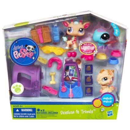 Amazon.com : Littlest Pet Shop Themed Play Pack - World Traveling Pets : Lps : Toys  Games