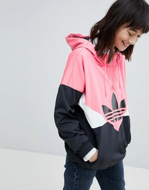 60b3402f adidas Originals | adidas Originals Colorado Paneled Windbreaker Jacket In  Black And Pink
