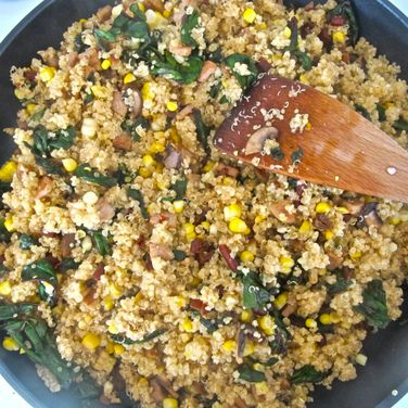 Quinoa With Chard And Mushrooms Recipes — Dishmaps