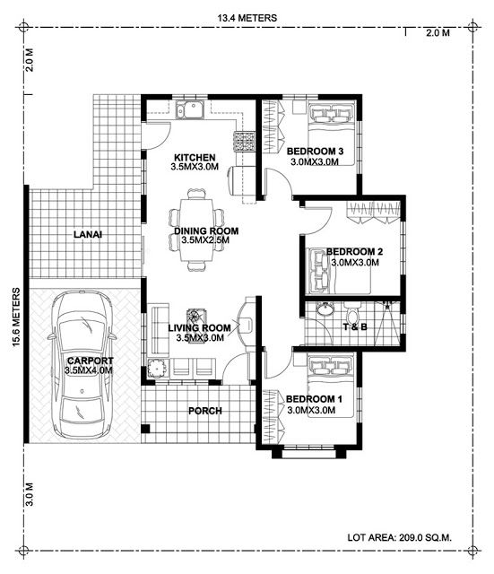 Modern House Plans 13x14m And 19x14m House Plan Map Home Design Plan House Floor Design Home Design Floor Plans