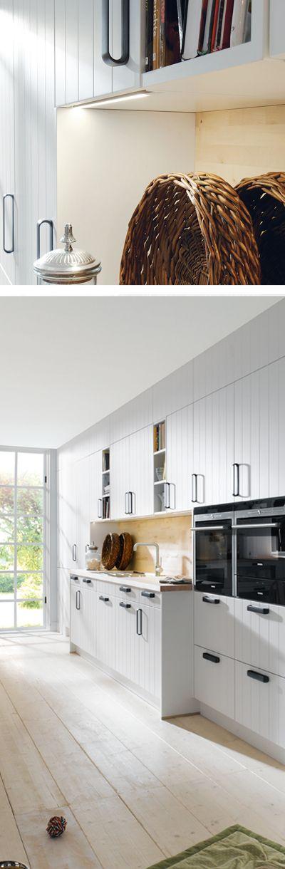 Stauraum wunder landhausküche in grau