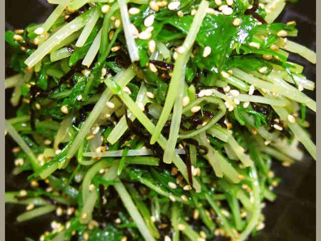 水菜を大量消費!簡単美味しい塩昆布和えだの画像