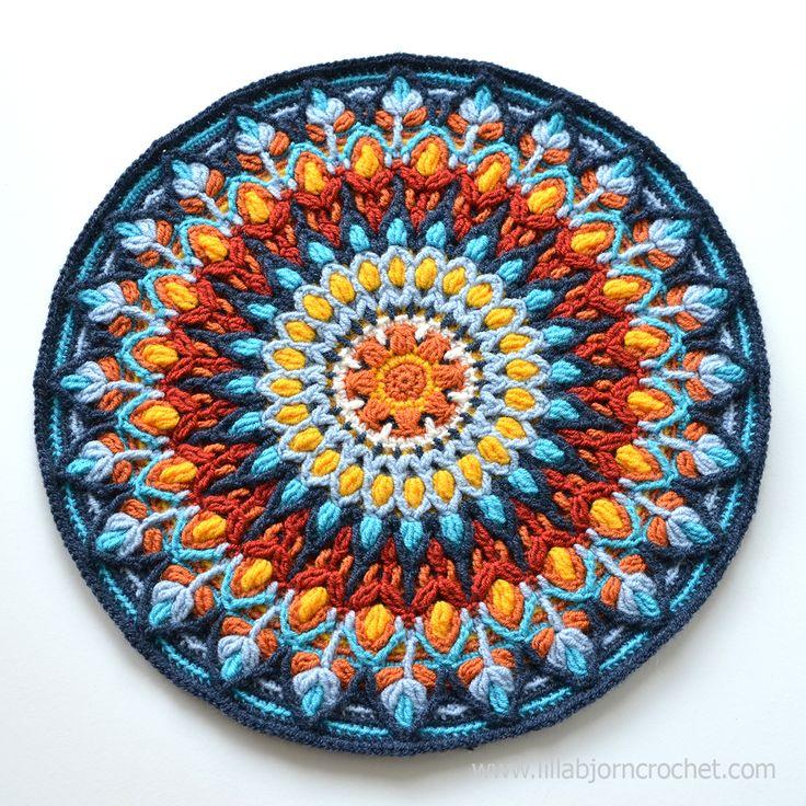 Spanish Mandala was inspired by ceramic handmade plates. Overlay crochet pattern…