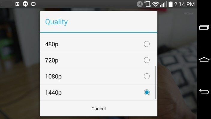 YouTube for Android is Offering 1440p Resolution