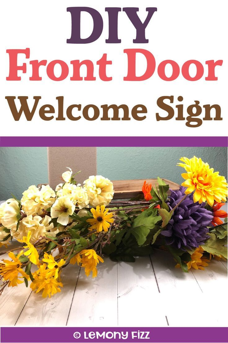 Make A Front Door Welcome Sign With Cricut Vinyl Cricut Cricut Tutorials Welcome Sign