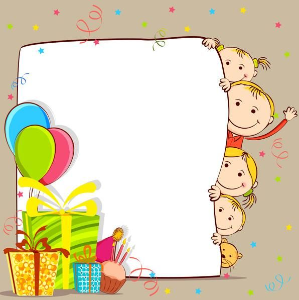 School kids vector material download