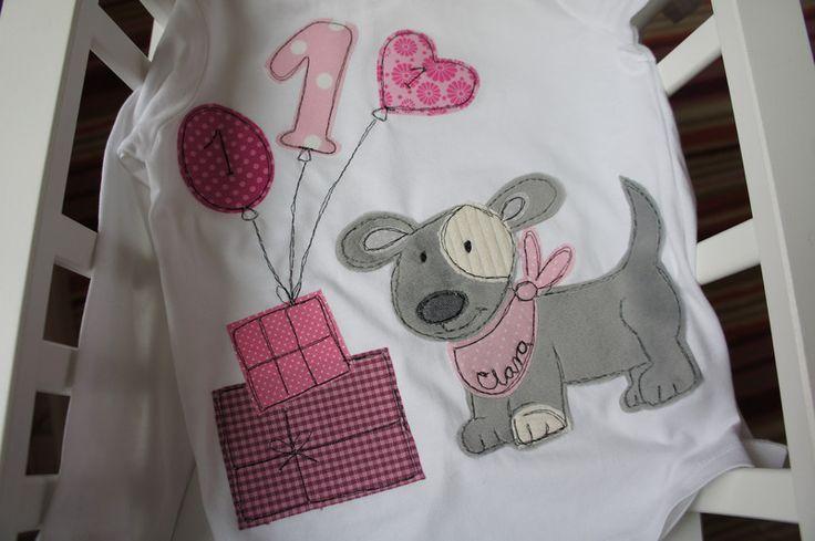 """Geburtstagsshirt++""""Hund""""+von+Seezauber+am+Meer+auf+DaWanda.com"""