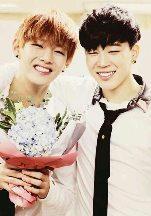 V and Jimin // I'll have to start digging my own grave right now, so cute