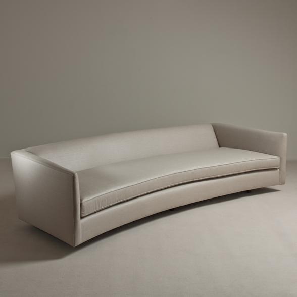 A Rare Harvey Probber Designed Curved Sofa USA 1950s