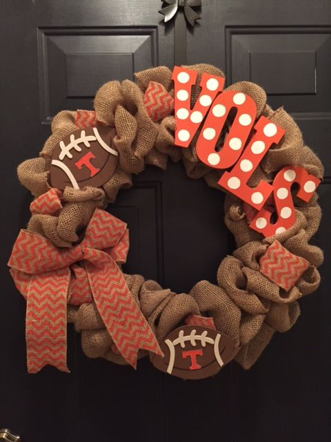 University of Tennessee Football Wreath