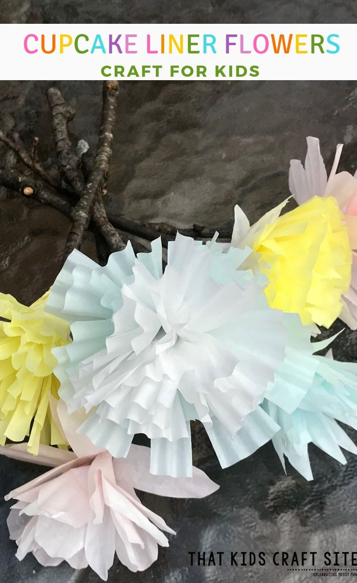 Cupcake Liner Flowers That Kids Craft Site Spring Crafts For