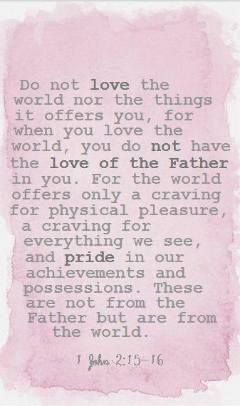 1 John 2:15-16