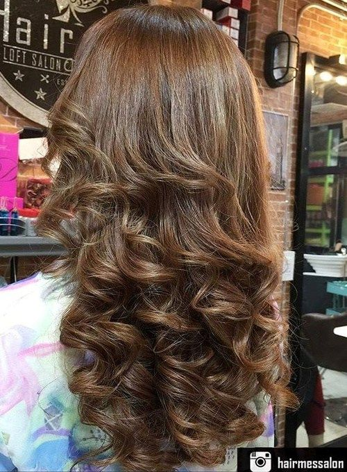 long loose curly hairstyle best perms