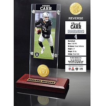 NFL® Oakland Raiders Derek Carr Ticket & Bronze Coin Ticket Acrylic by The Highland Mint
