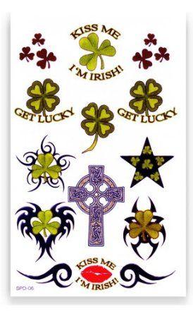 St. Patrick's Day Irish Tribal Shamrock Temporary Tattoos #107 BeWild. $2.99