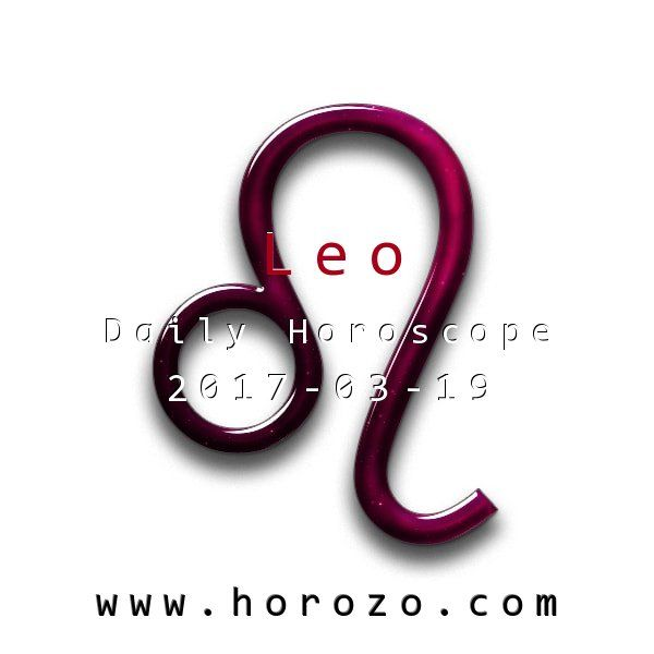 Leo Daily horoscope for 2017-03-19: Your energy levels are off the charts today, so make sure that you're making the mos of them. You can get massive amounts of work done, check in with everyone on your list and still have time for fun.. #dailyhoroscopes, #dailyhoroscope, #horoscope, #astrology, #dailyhoroscopeleo