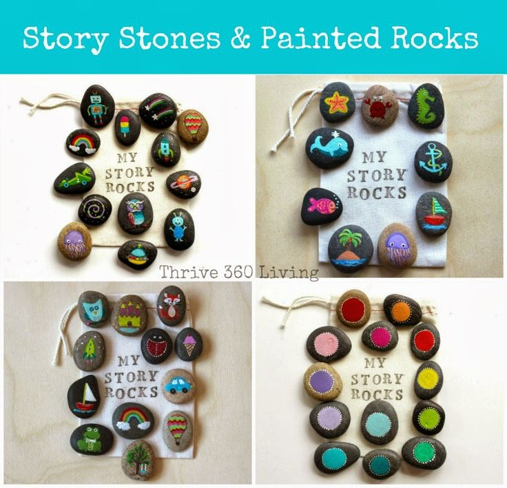 Make a set of custom story stones with your child for imaginative play or to encourage storytelling prompted by the images. #kidsactivities