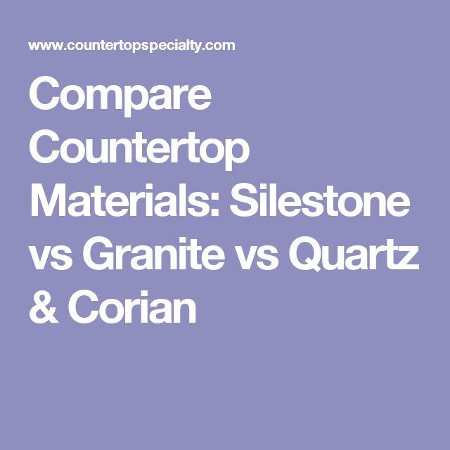 Compare Countertop Materials: Silestone vs Granite vs Quartz & Corian