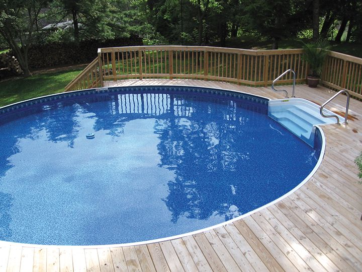 So many options radiant metric round pool installed on a for Top ground pools