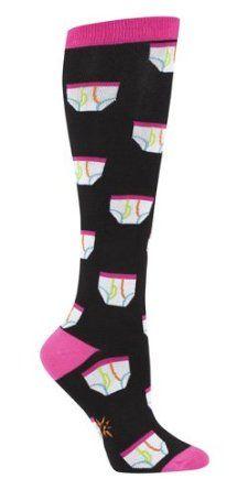 Sock It To Me TIGHTY WHITIES Womens Knee Socks Sock It To Me. $8.49
