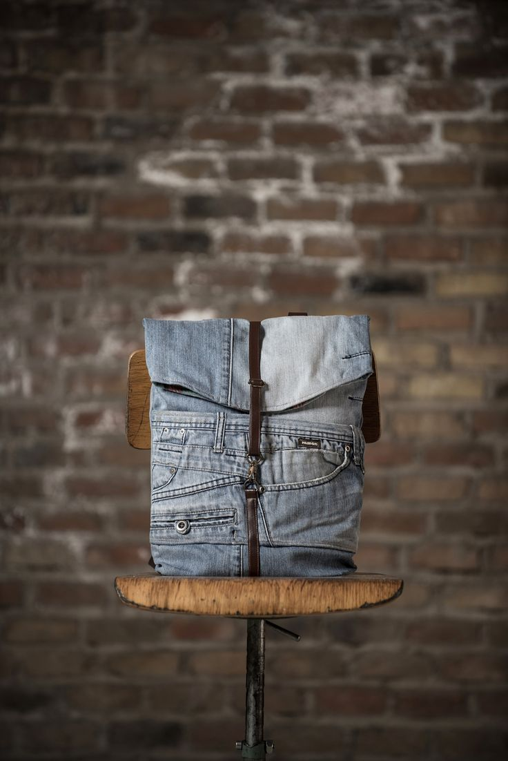 Upcycled bags made from old jeans