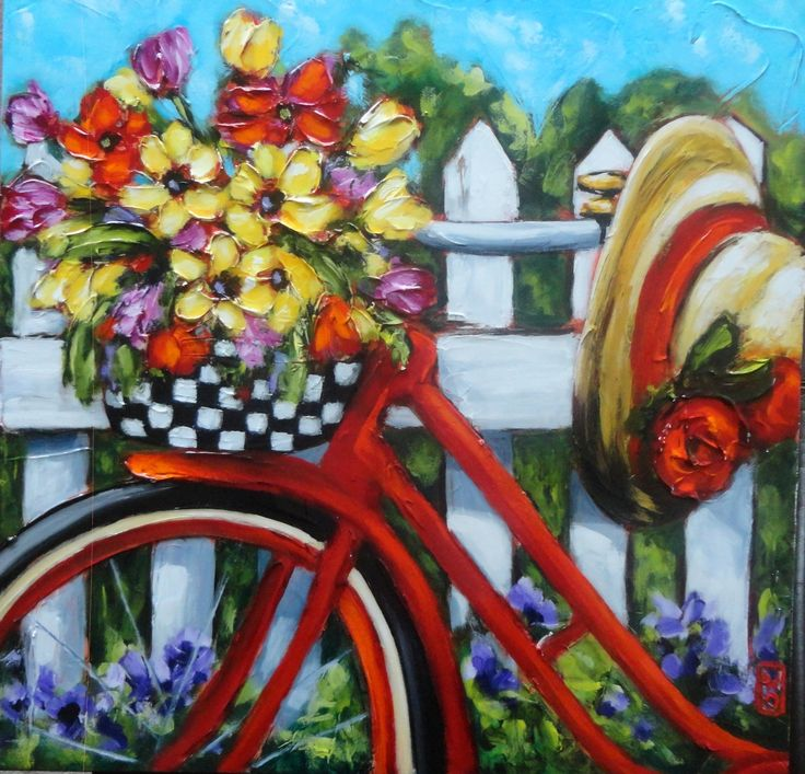Wendy Oppelt - Bicycle in acrylic.  #spring #butchartgardens #explorevictoria #art #shopping