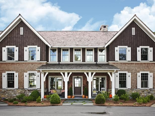 How gorgeous is this mountain home? Step inside for awesome decorating tips, and shopping ideas.  #hgtvmagazine http://www.hgtv.com/decorating-basics/smart-shopping-and-decorating-ideas/pictures/index.html?soc=pinterestModern Farmhouse, Decor Tips, Decor Ideas, Summer Style, Dreams House, Colors Schemes, Back Porches, Mountain Home, Front Porches