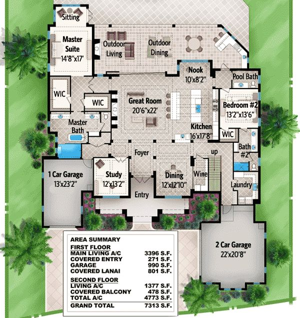 Plan 86012bw Spacious Florida House Plan With Rec Room