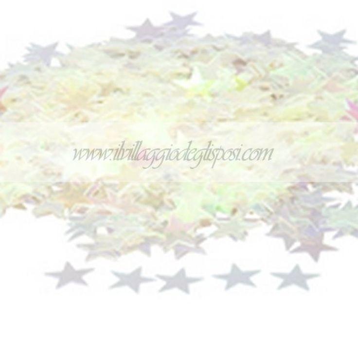 Coriandoli a forma di stelline / white star confett.