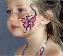 Cheek Face Painting Ideas   More samples of cheek art.