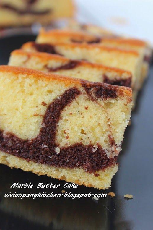 Vivian Pang Kitchen: Butter Marble Cake (Mrs NgSK's Vanilla Butter Cake...