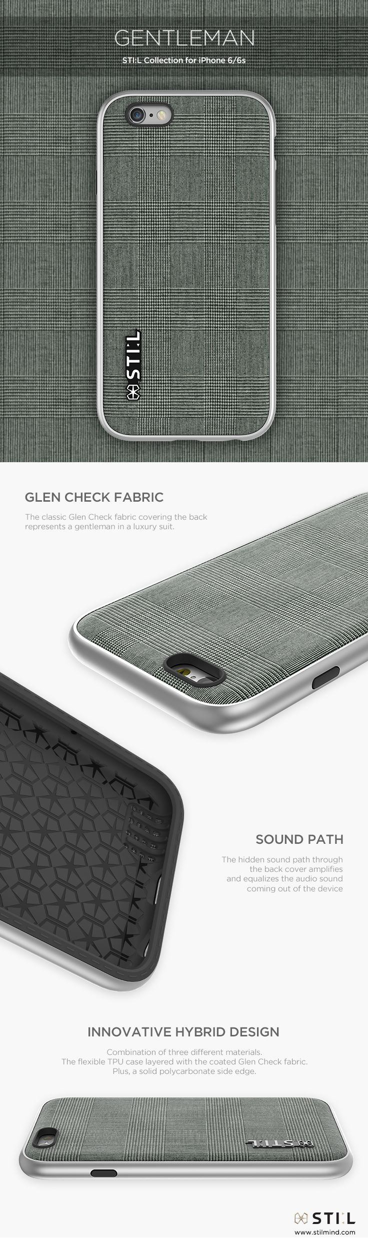GENTLEMAN - A gentleman in classic luxury suit. Available in Color : Grey  #glencheck #stil #stilcase #mobile #fashion #design #case #iphone6 #iphone6s #2015fw